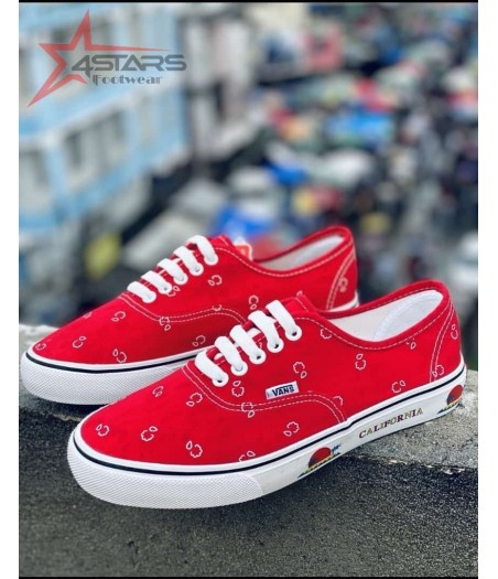 Vans Off the Wall California - Red