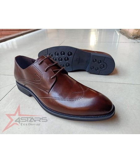 Laced Official Men's Oxford Shoes - Coffee Brown
