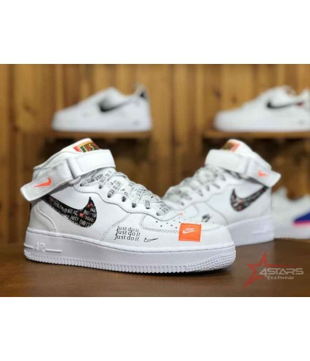Nike Airforce 1 Just Do It High Tops - White