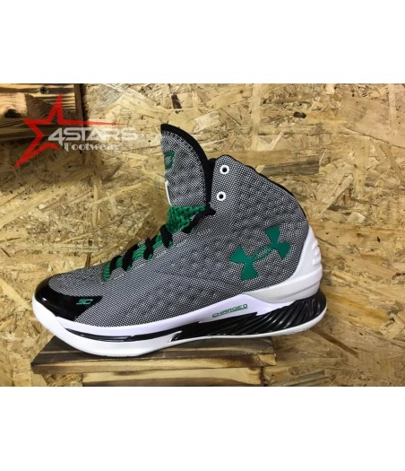 Under Armour Steph Curry Charged - Grey and Green