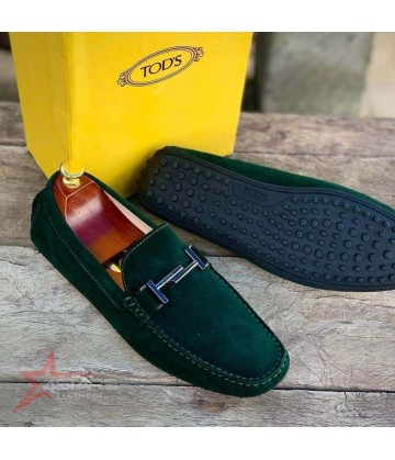 Tod's Suede Loafers - Green