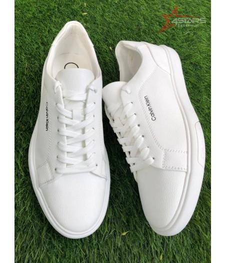 Calvin Klein Leather Sneakers - All White