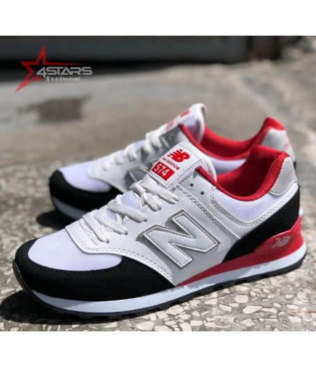 New Balance 574 White and Red