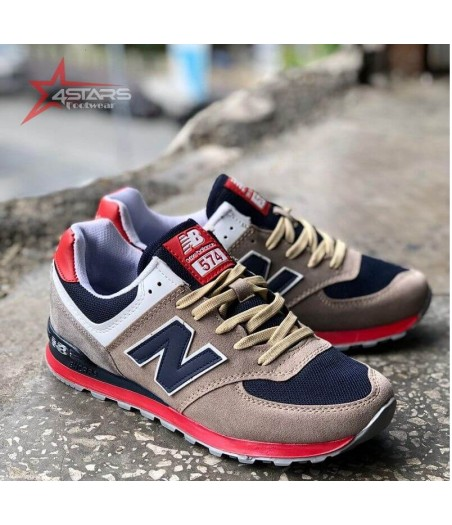 New Balance 574 Red and Black