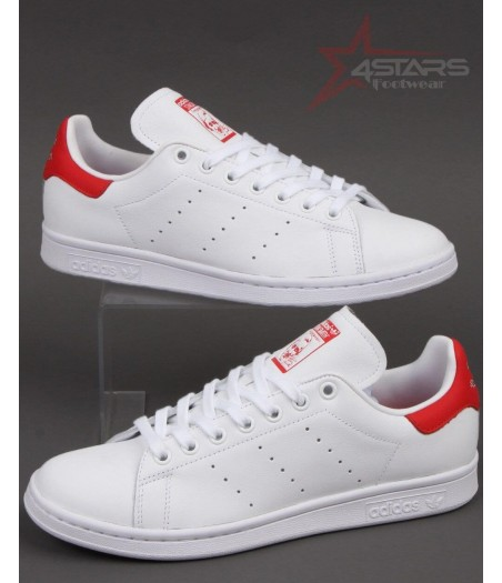 Adidas Stan Smith White and Red