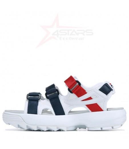 Fila Disruptor Sandals - White/Navy/Red
