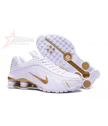Nike Shox R4 - White and Gold