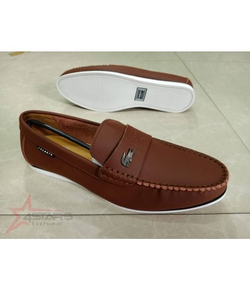Brown Lacoste Slip On Loafers