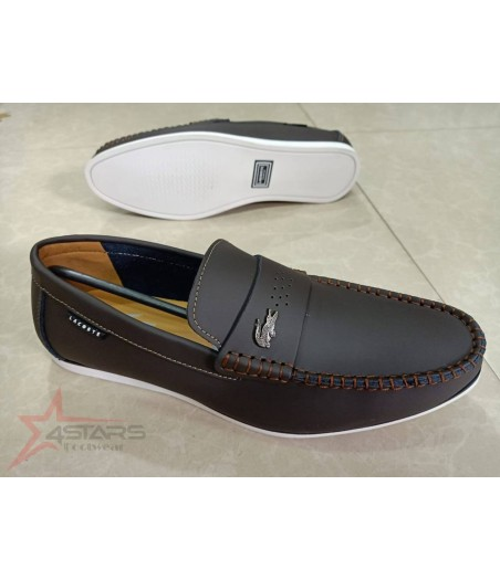 Coffee Brown Lacoste  Slip On Loafers