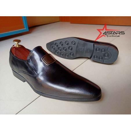 Mens Laceless Official Shoes - Black