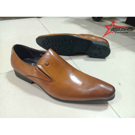 Slip On Mens Official Shoes - Brown