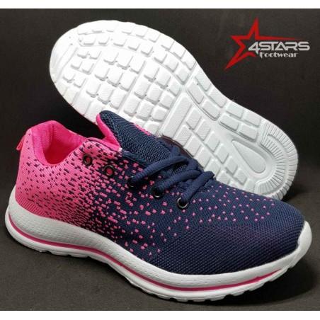 Ladies Trainer Sneakers - Pink
