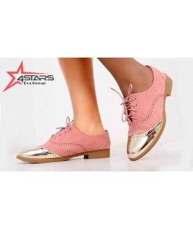 Laced Ladies Brogues - Pink