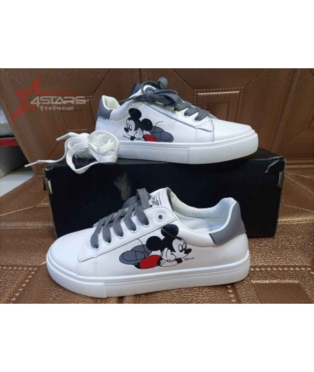 Ladies Mickey Mouse Sneakers - Grey