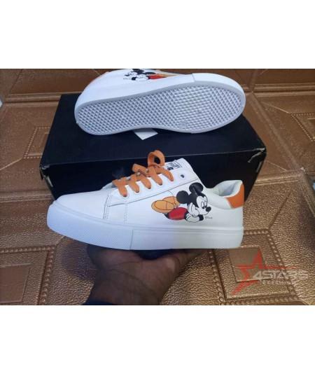 Ladies Mickey Mouse Sneakers - Orange