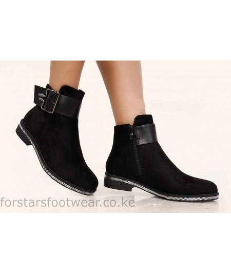 Ladies Fashion Suede Ankle Boots