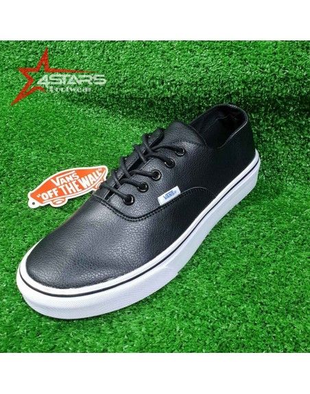 Classic Leather Vans Off the Wall - Black and White
