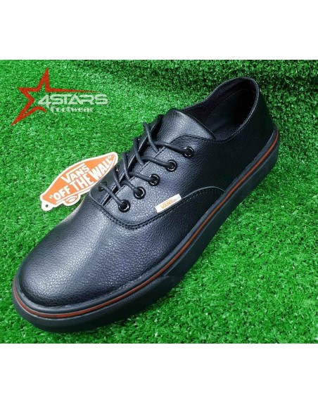 Classic Leather Vans Off the Wall - Black
