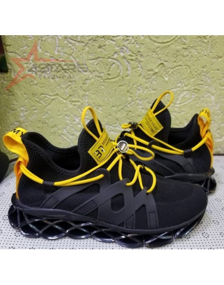 Broken Rules Sneakers - Black and Yellow