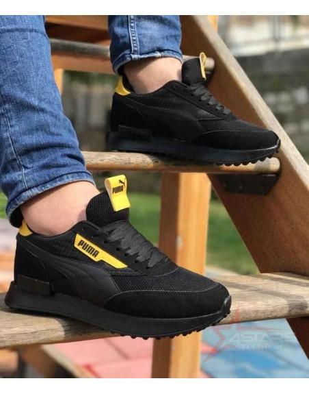 Puma Rider Sneakers - Black/Yellow