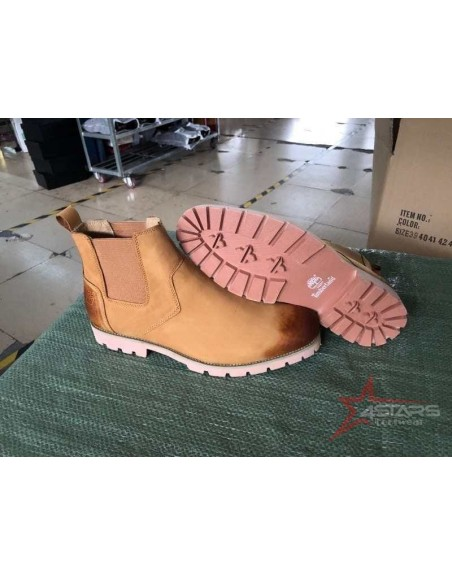 Laceless Timberland Leather Boots - Brown