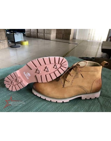 Laced Leather Timberland Boots