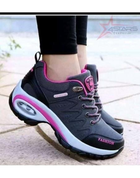 Ladies Fashion Sneakers - Black