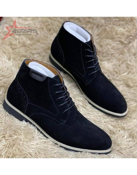 Polo Suede Leather Chelsea Boots - Black