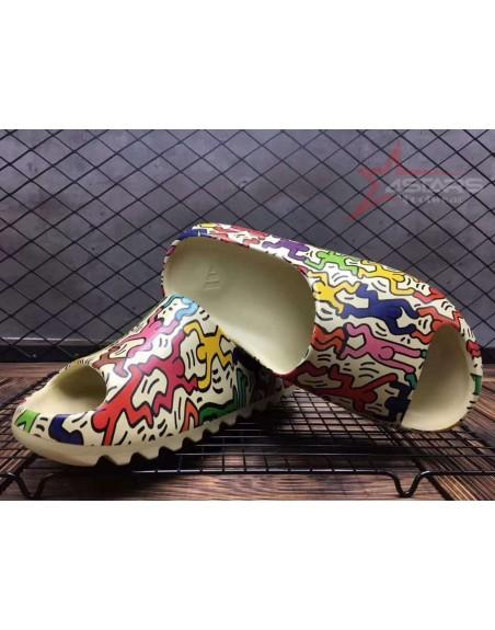Custom Adidas Yeezy Slides 'Villain Graffiti Print'