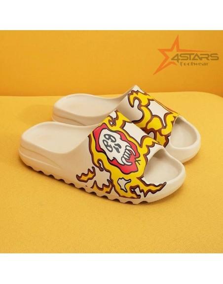 Custom Adidas Yeezy Slides - Skull