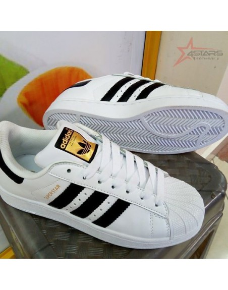 Adidas Super Star Sneakers - Black and White