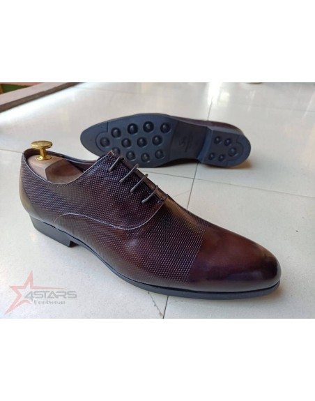 Laced Coffee Brown Men's Official Shoes