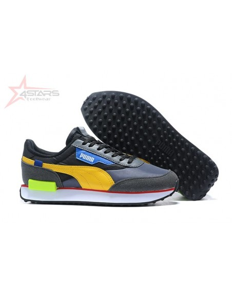 Puma Rider Sneakers - Black and Yellow