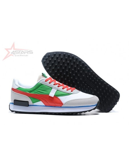 Puma Rider Sneakers - Red and Green